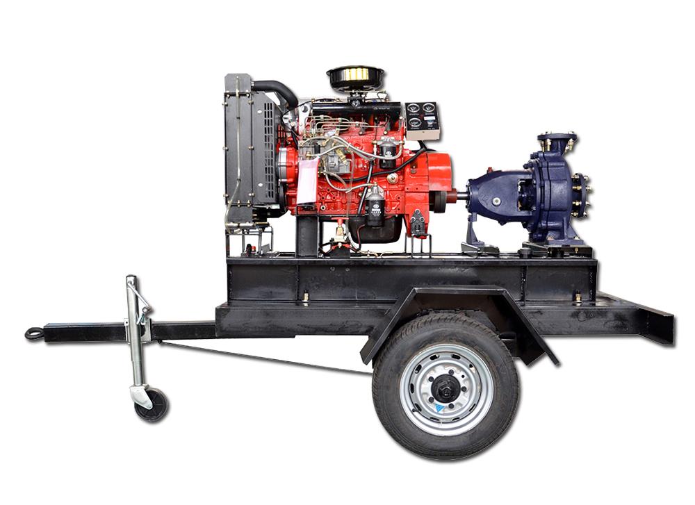 42kw扬动水泵机组配移动拖车